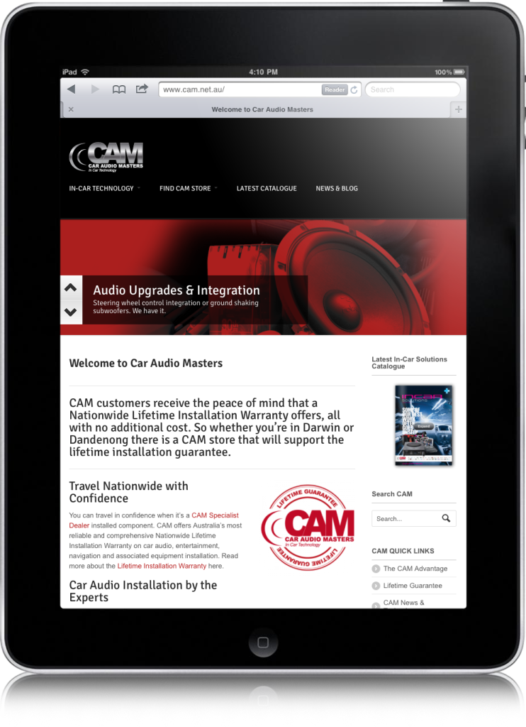 ipad-cam-web-site-design