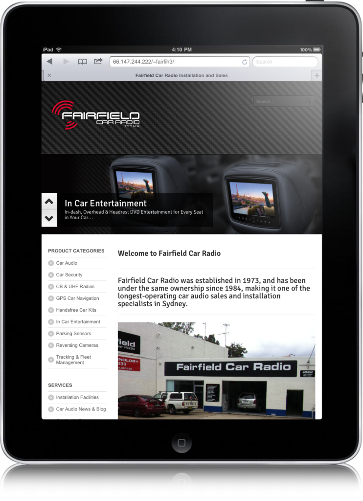ipad-fairfield-web-site-design