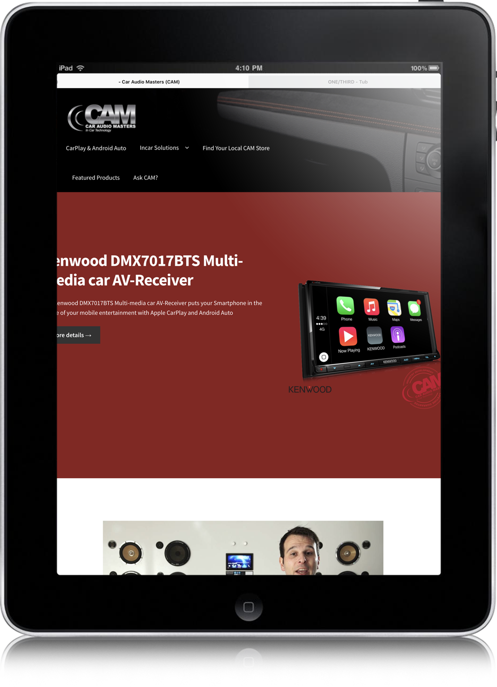 website design for CAM australia