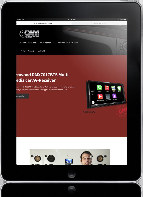 website design for CAM australia
