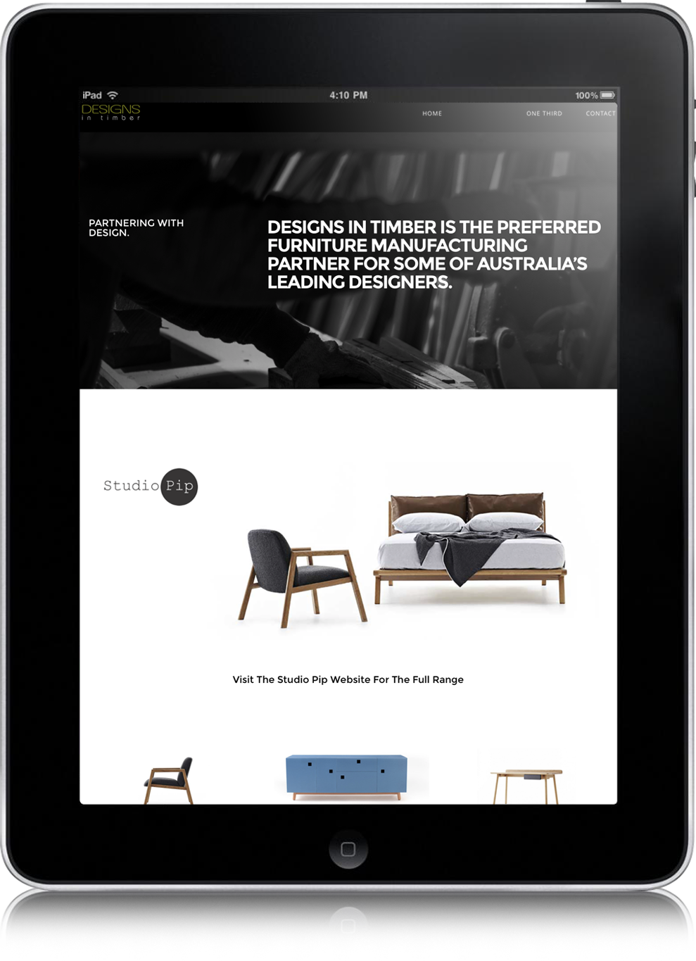 landing page design, designs in timber launceston