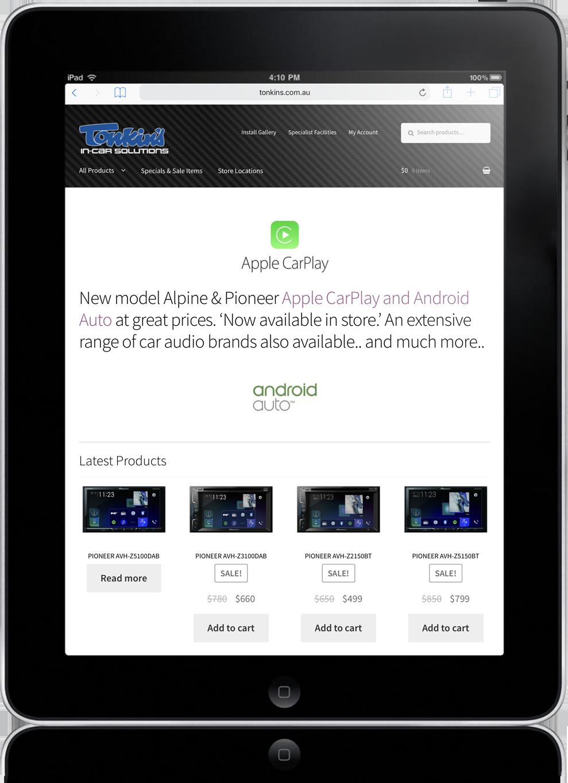 website design tonkin's australia
