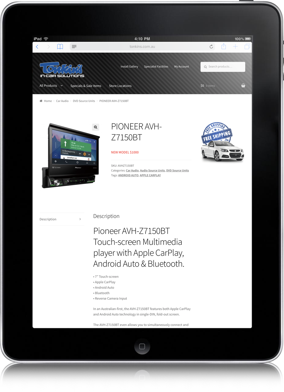 website design tonkin's australia