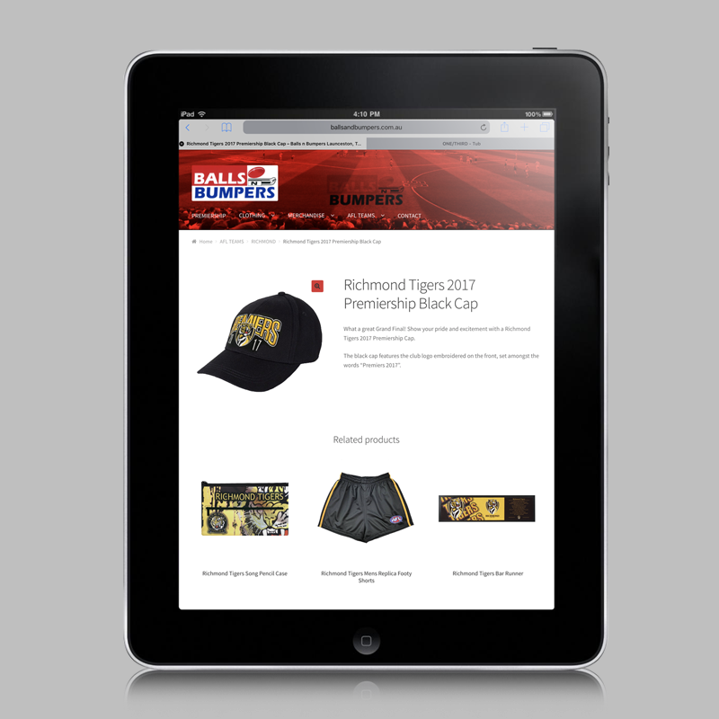 e-commerce website design bib launceston