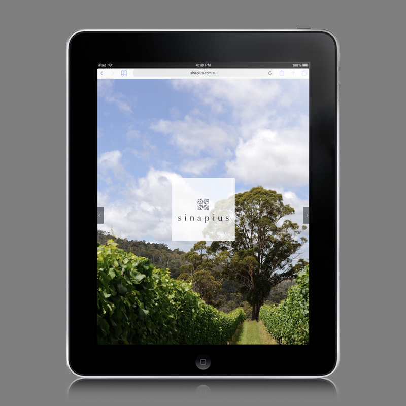 e-commerce website design for sinapius wine tasmania